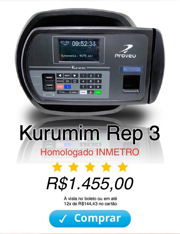 Relógio de Ponto Kurumim REP 3