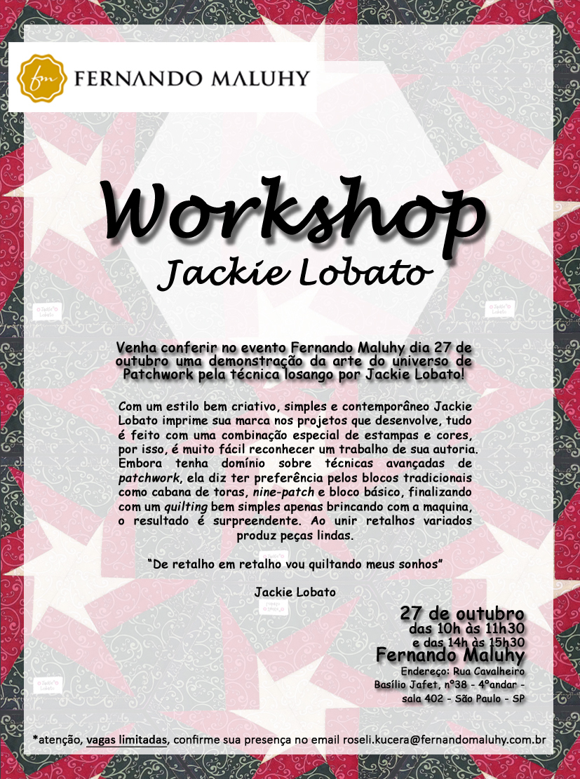 Workshop Jackie Lobato